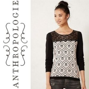 Anthropologie Knitted Knotted Victoria Top M
